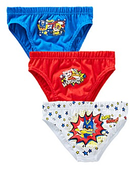 Paw Patrol Boys Pack Of Three Briefs