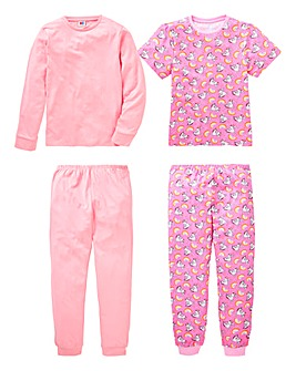 KD Older Girls Pack of Two Unicorn PJs