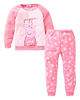 Peppa Pig Girls Fleece Pyjamas