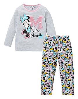 Minnie Mouse Girls Glitter Print Pyjamas