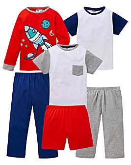 KD Younger Boys Pack of Three Pyjamas