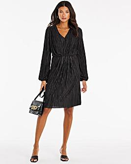 Black Plisse Dress