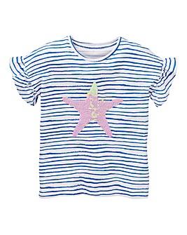 KD Girls Reverse Sequin Star Tee