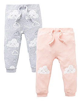 Baby Girl Pack of Two Jog Pants