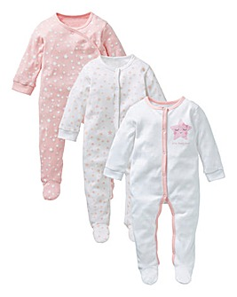 KD Baby Girl Pack of Three Sleepsuits