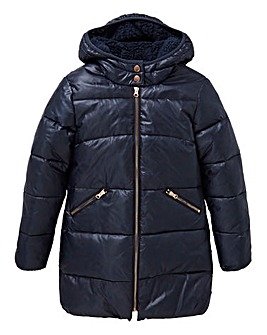 Girls Navy Winter Coat