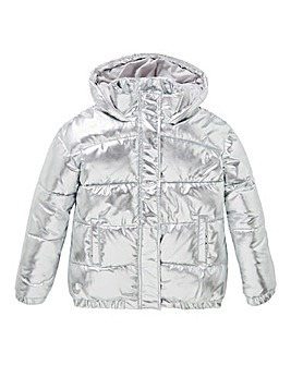 KD Girls Silver Padded Coat