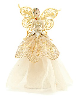Gold Angel Christmas Tree Topper