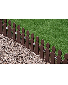 4 Pack Garden Fences with Solar Lights