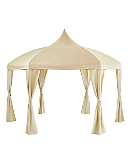 Hexagonal Gazebo with Steepletop