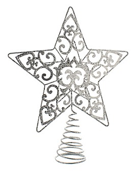 Star Christmas Tree Topper - Silver