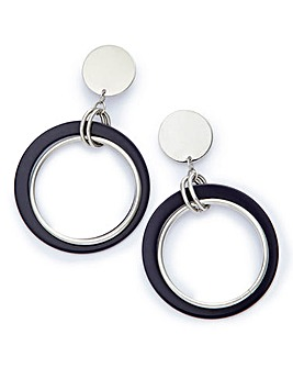 Resin Hoop Drop Earrings