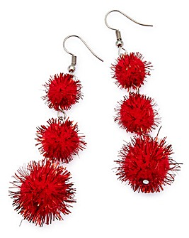 Pom Pom Novelty Earrings
