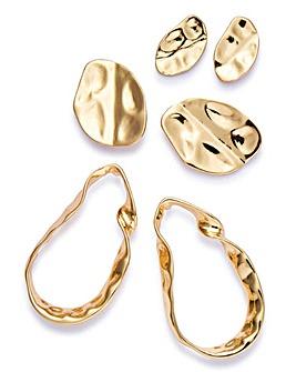 Hammered Earrings Multi Pack