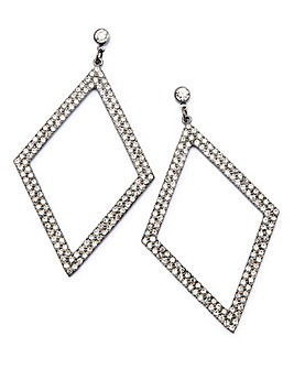 Rhinestone Triangle Earrings