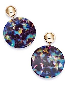 Marble Resin Drop Earrings