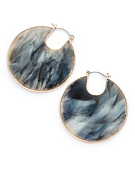 Marbled Hoop Earrings