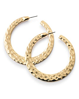 Oversized Hammer Hoop Earrings