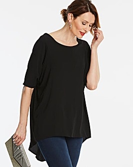 Black Dip Back Tunic
