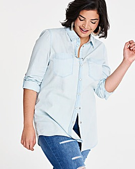 Bleachwash Western Denim Shirt