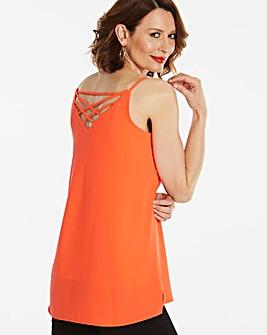 Bright Orange Cross Back Strappy Cami