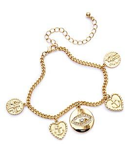 Crystal Charm Chain Bracelet