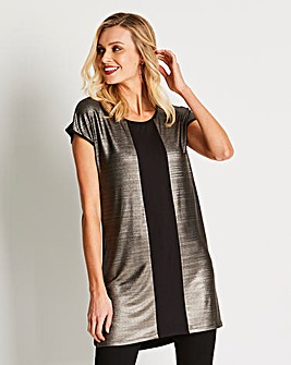 Colour Block Metallic Tunic
