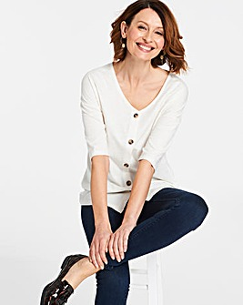 Ivory Linen Button Down Top