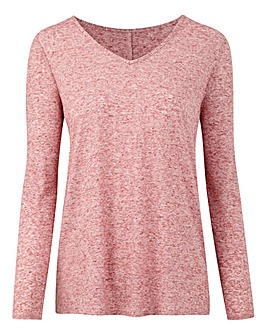 Linen Blend Long Sleeve Top