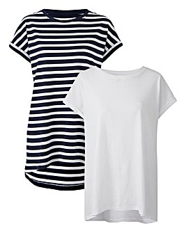 Stripe Pack of 2 Boyfriend T-shirts