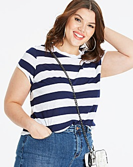 Block Stripe Cotton Slub T-shirt