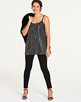 Black/Silver Cami Top
