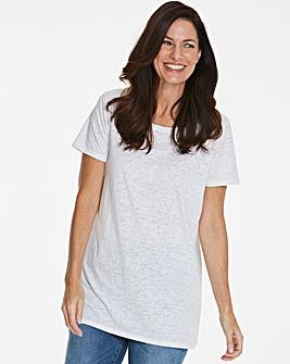 White Burnout T-shirt