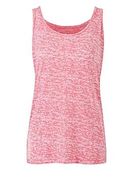 Pink Burnout Vest