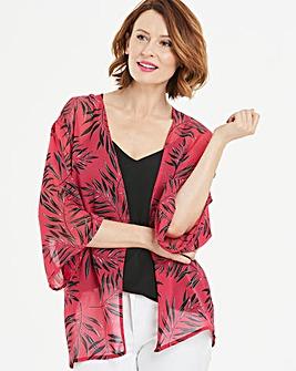 Pink Floral Boxy Kimono