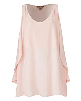 Blush Ruffle Side Vest