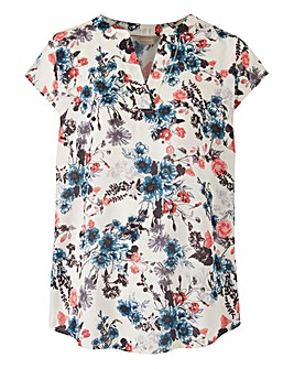 Floral Print Ladder Insert Top