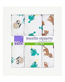 Muslin Squares Pack of 3