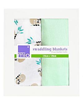 Bambino Mio Swaddling Blankets 2 Pack