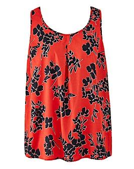 Red Floral Petite Printed Vest