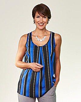 Blue Stripe Printed Vest