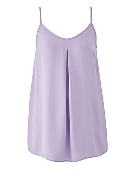 Lilac Pleat Front Strappy Cami