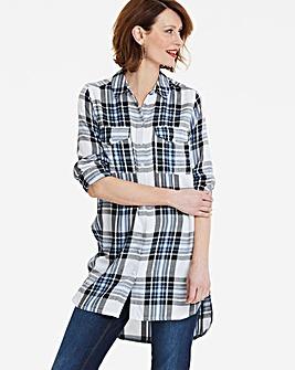 Blue/Ivory Check Basic Shirt