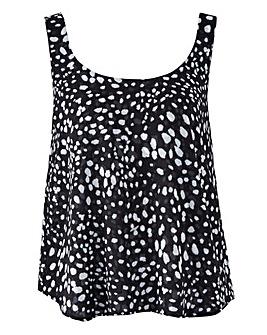 Mono Spot Print Co-Ord Vest
