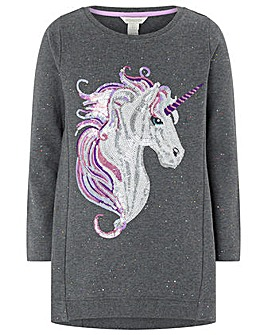 Monsoon Uki Unicorn Sweat Dress