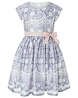 Monsoon Otylia Lace Print Dress