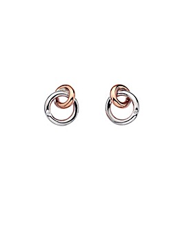 Hot Diamonds Interlocked Earrings