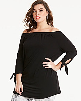 Joanna Hope Black Bardot Tunic