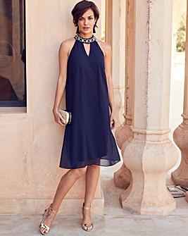 Joanna Hope Bead Trim Swing Dress