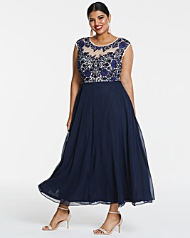 Joanna Hope Embroidered Maxi Dress